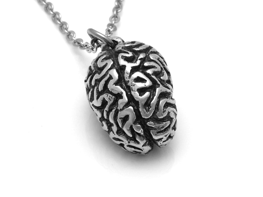 Human Brain Necklace, Psychologist Pendant, Anatomy Jewelry