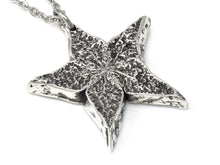 Carambola Necklace, Starfruit Jewelry in Pewter