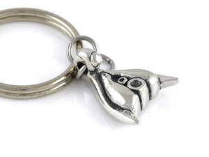Clitoris Keychain, Female Sexuality Keyring in Pewter