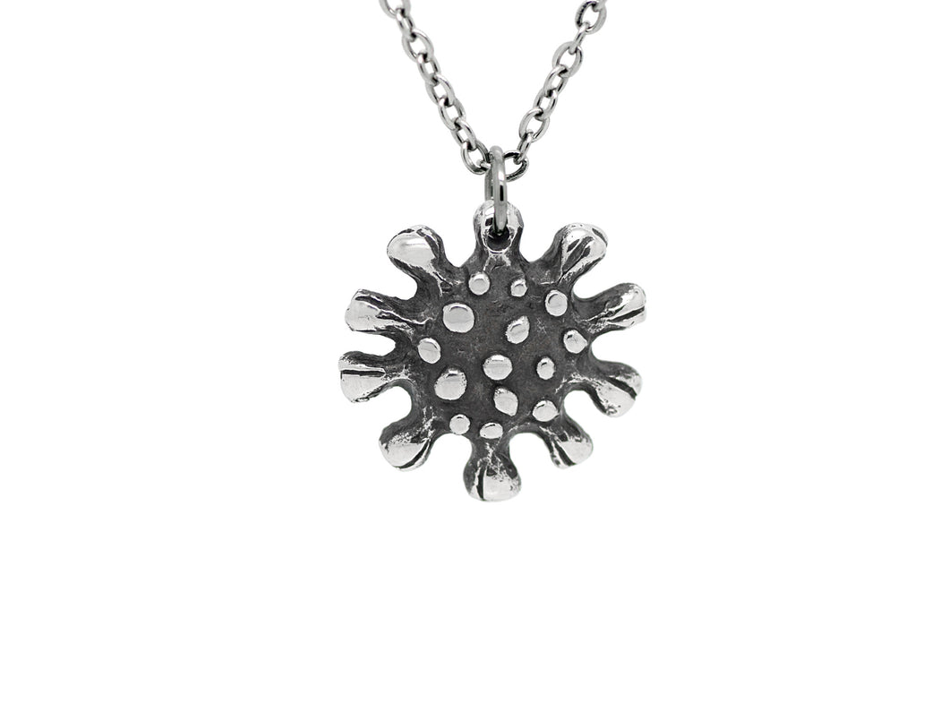 Coronavirus Pendant Necklace, Covid 19 Virus Anatomy Jewelry