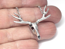 Deer Skull Necklace, Animal Jewelry in Pewter
