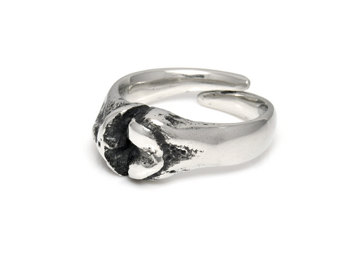 Tibia and Femur Bone Ring, Anatomy Jewelry in Pewter