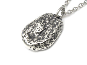 Giant Roasted Corn Necklace, Food Jewelry in Pewter
