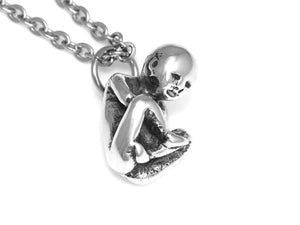 Human Fetus Necklace, Baby Infant Jewelry