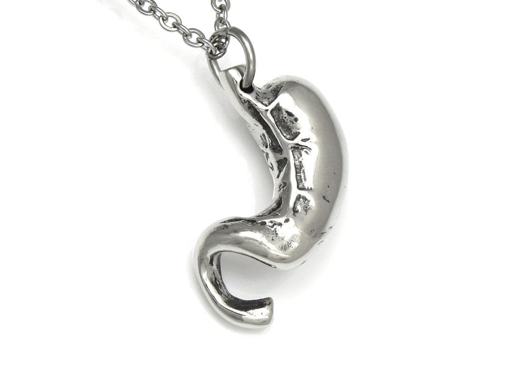 Stomach Necklace, Human Anatomy Jewelry in Pewter