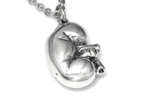 Human Kidney Necklace, Anatomical Jewelry in Pewter