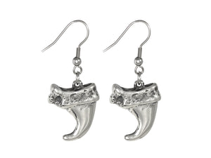 Lynx Claw Earrings, Animal Jewelry in Pewter