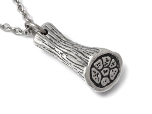 Skeletal Muscle Fiber Tissue Necklace in Pewter
