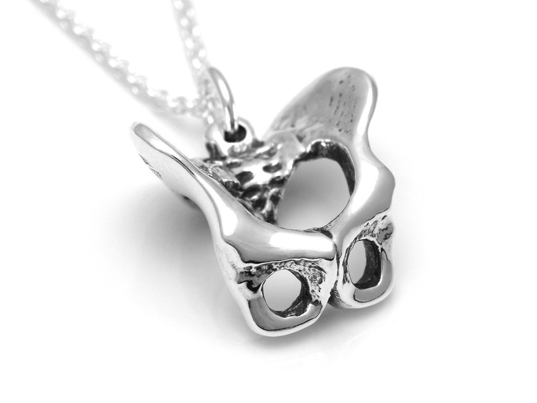 Pelvis Necklace, Anatomical Jewelry in Sterling Silver