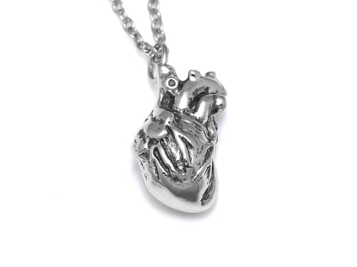 Small Anatomical Heart Necklace, Nurse and Doctor Jewelry