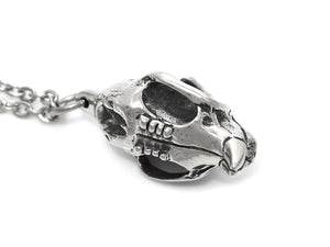 Squirrel Skull Necklace, Animal Jewelry in Pewter
