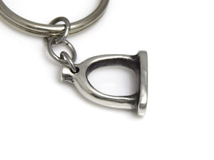 Stapes Ear Bone Keychain, Anatomical Keychain in Pewter