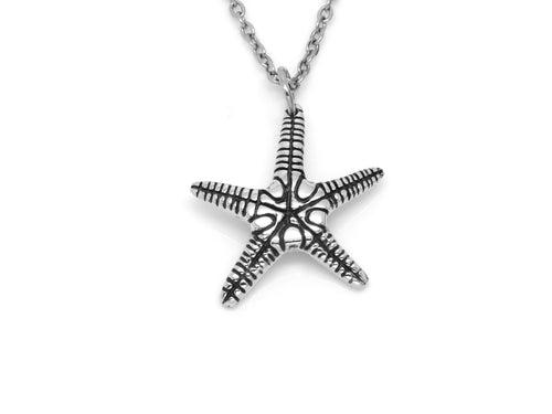 Starfish Pendant Necklace, Nautical Animal Jewelry