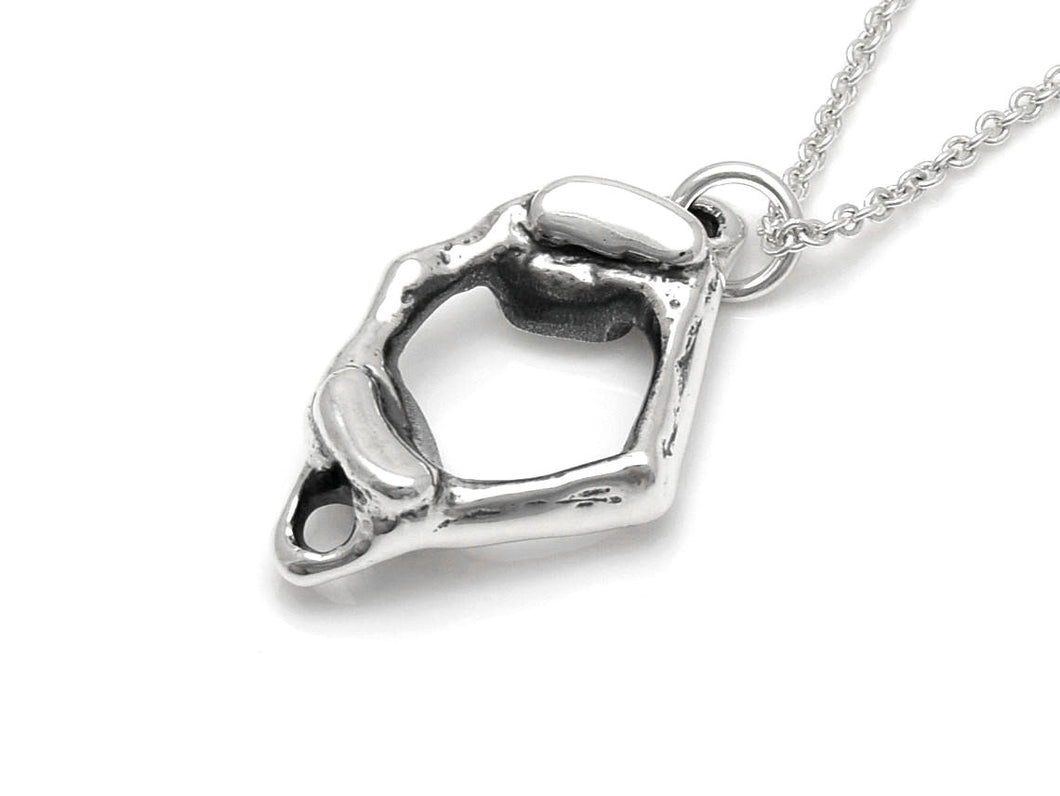 C1 Atlas Vertebra Necklace, Anatomy Jewelry in Sterling Silver