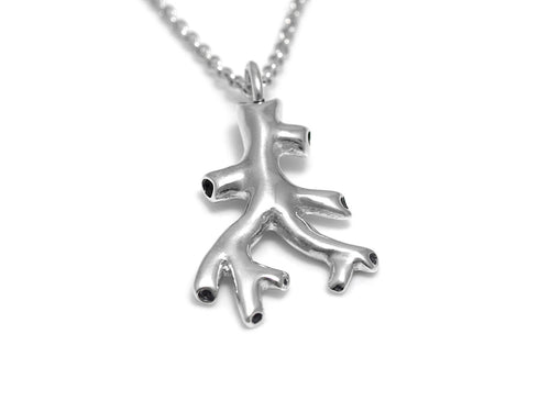 Blood Vessel Charm Necklace, Anatomy Jewelry in Sterling Silver