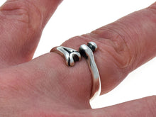 Femur Bone Ring, Anatomy Jewelry in Sterling Silver
