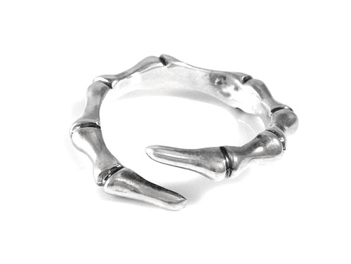 Phalanx Finger Bone Ring, Anatomy Jewelry in Sterling Silver