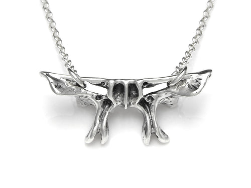 Sphenoid Bone Necklace, Skeleton Jewelry in Sterling Silver