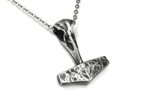 Mjolnir Thor's Hammer Necklace, Viking Jewelry in Pewter
