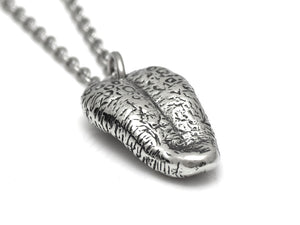 Human Tongue Necklace, Anatomical Jewelry in Pewter