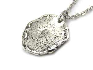 Trilobite Necklace, Animal Fossil Jewelry in Pewter