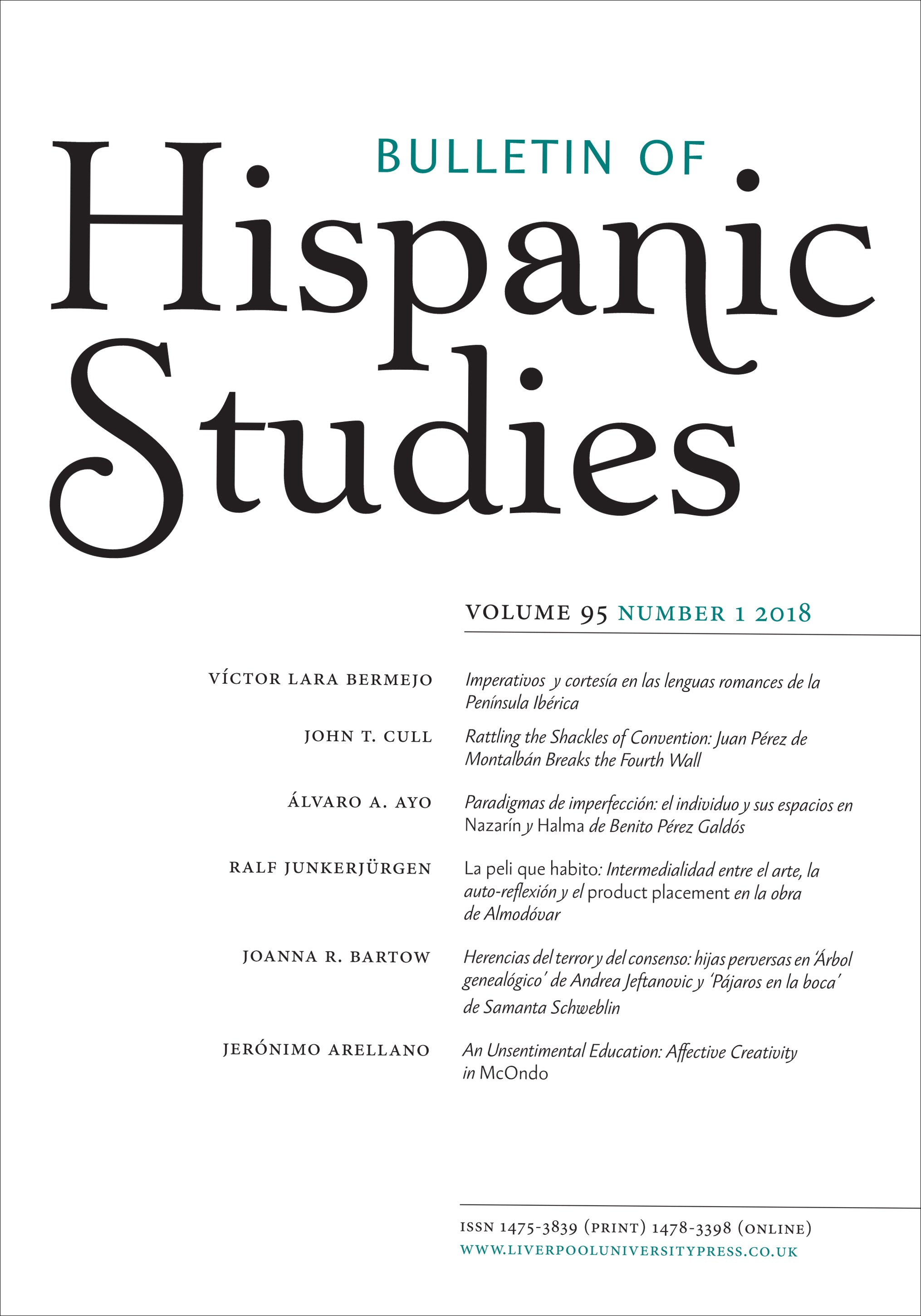 link to Bulletin of Hispanic Studies
