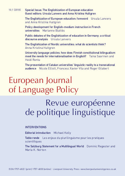 link to European Journal of Language Policy