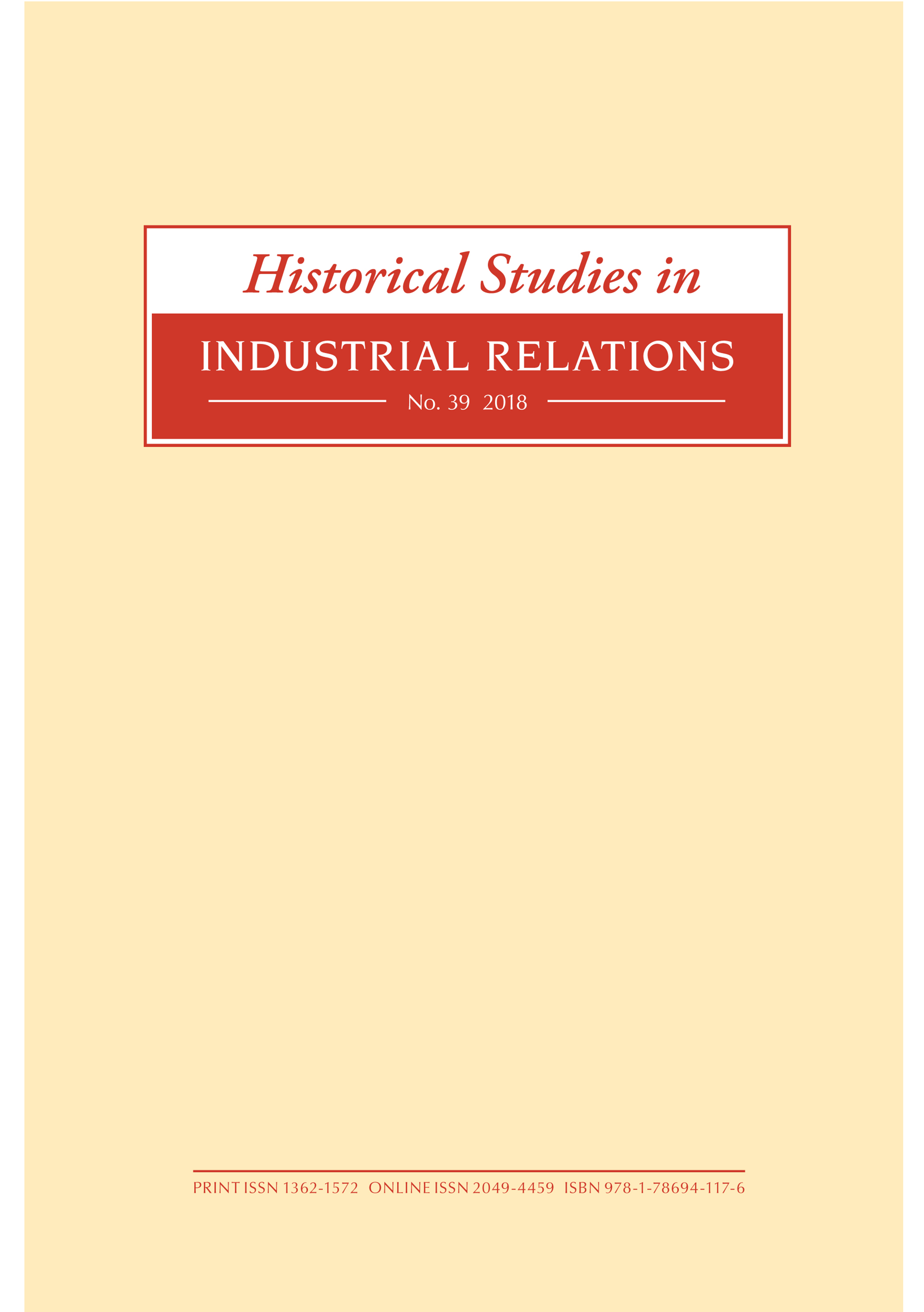 link to Historical Studies in Industrial Relations