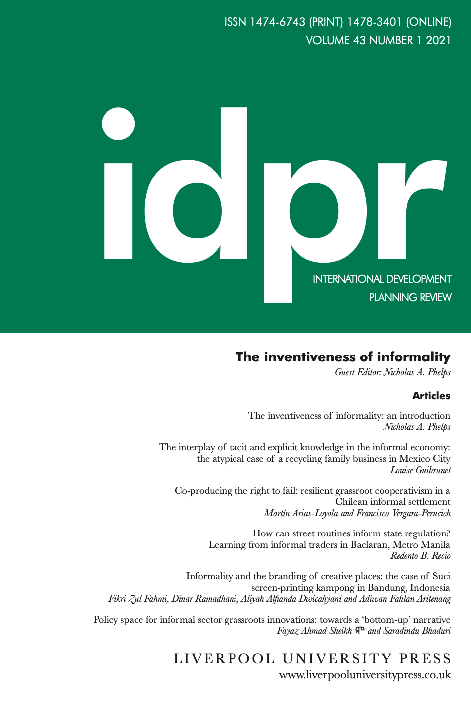 link to IDPR article