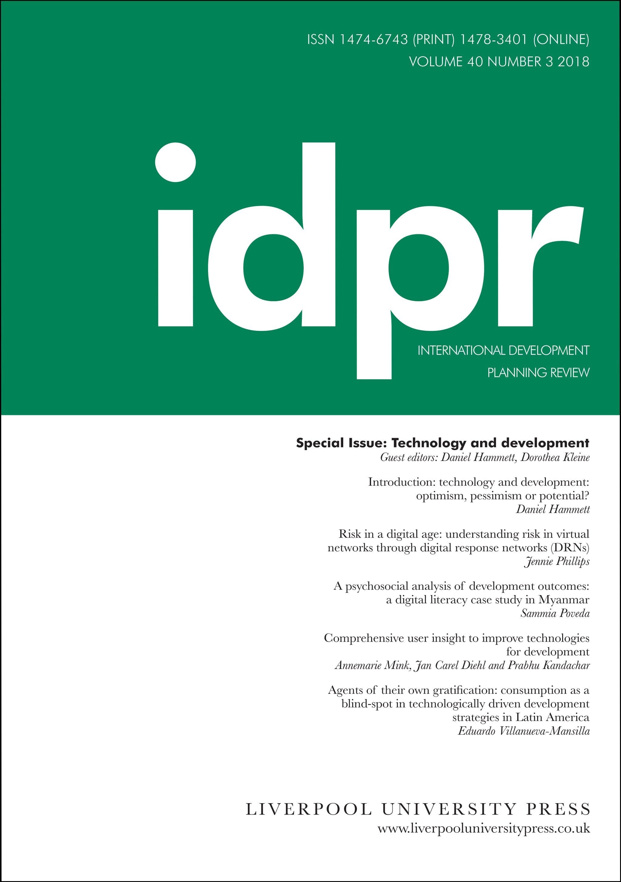 link to International Development Planning Review
