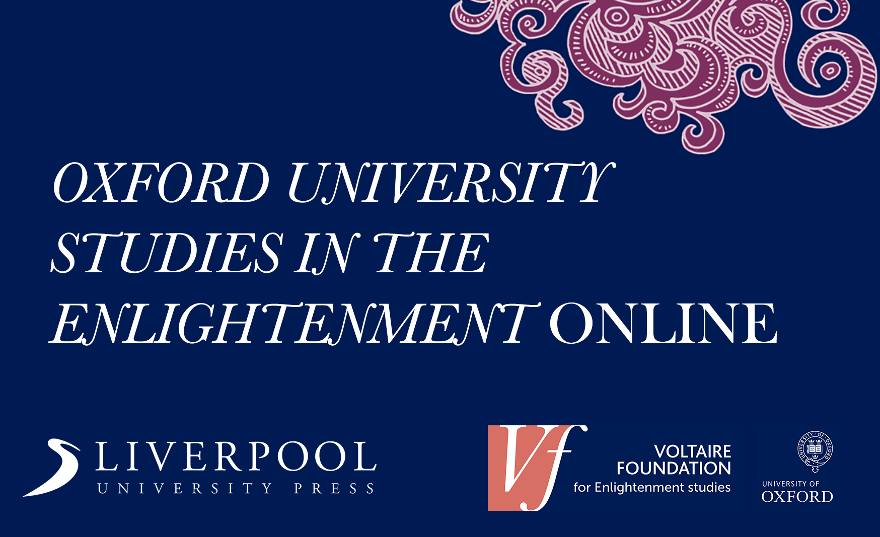 Oxford University Studies in the Enlightenment ONLINE hero image