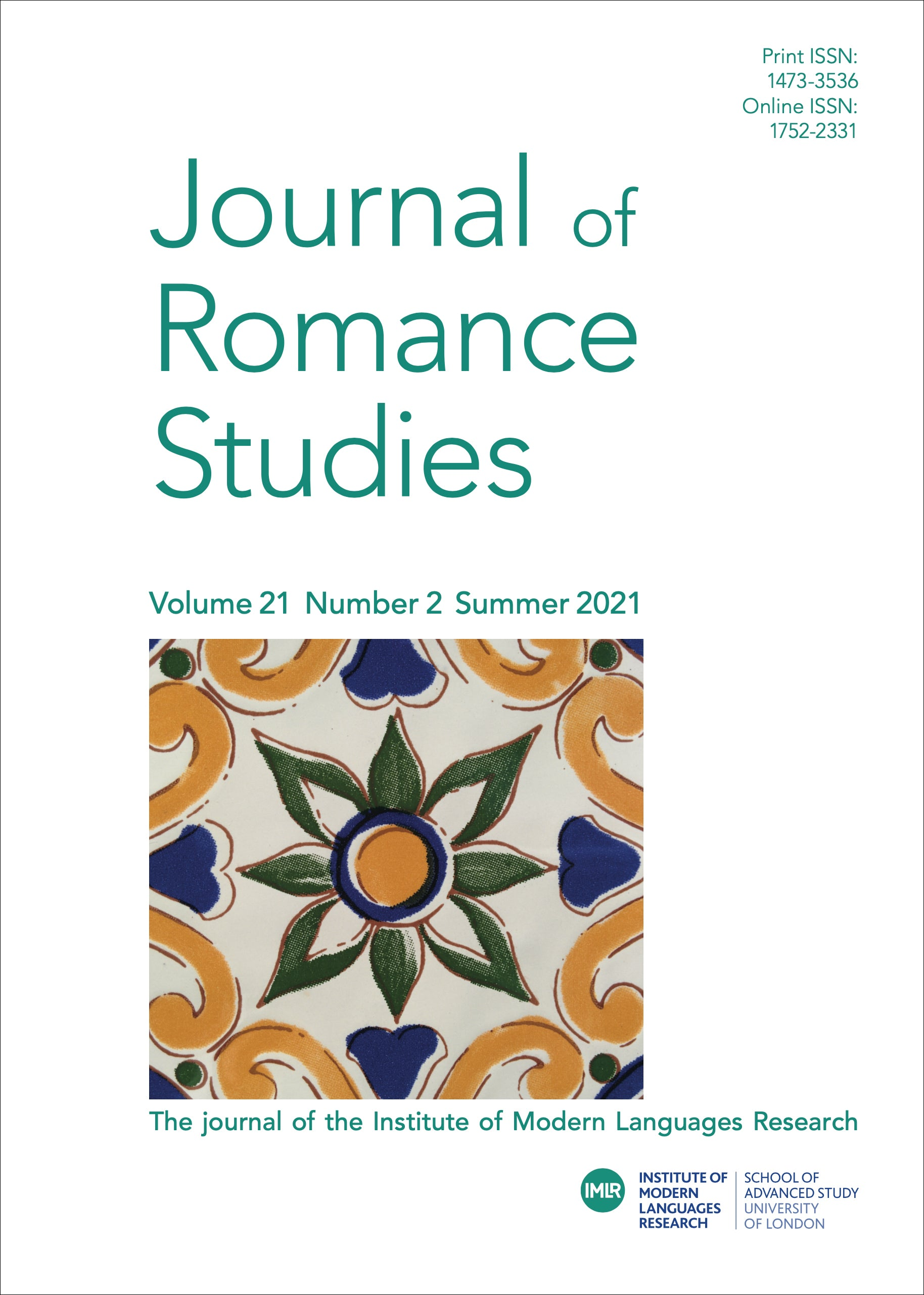 link to Journal of Romance Studies article