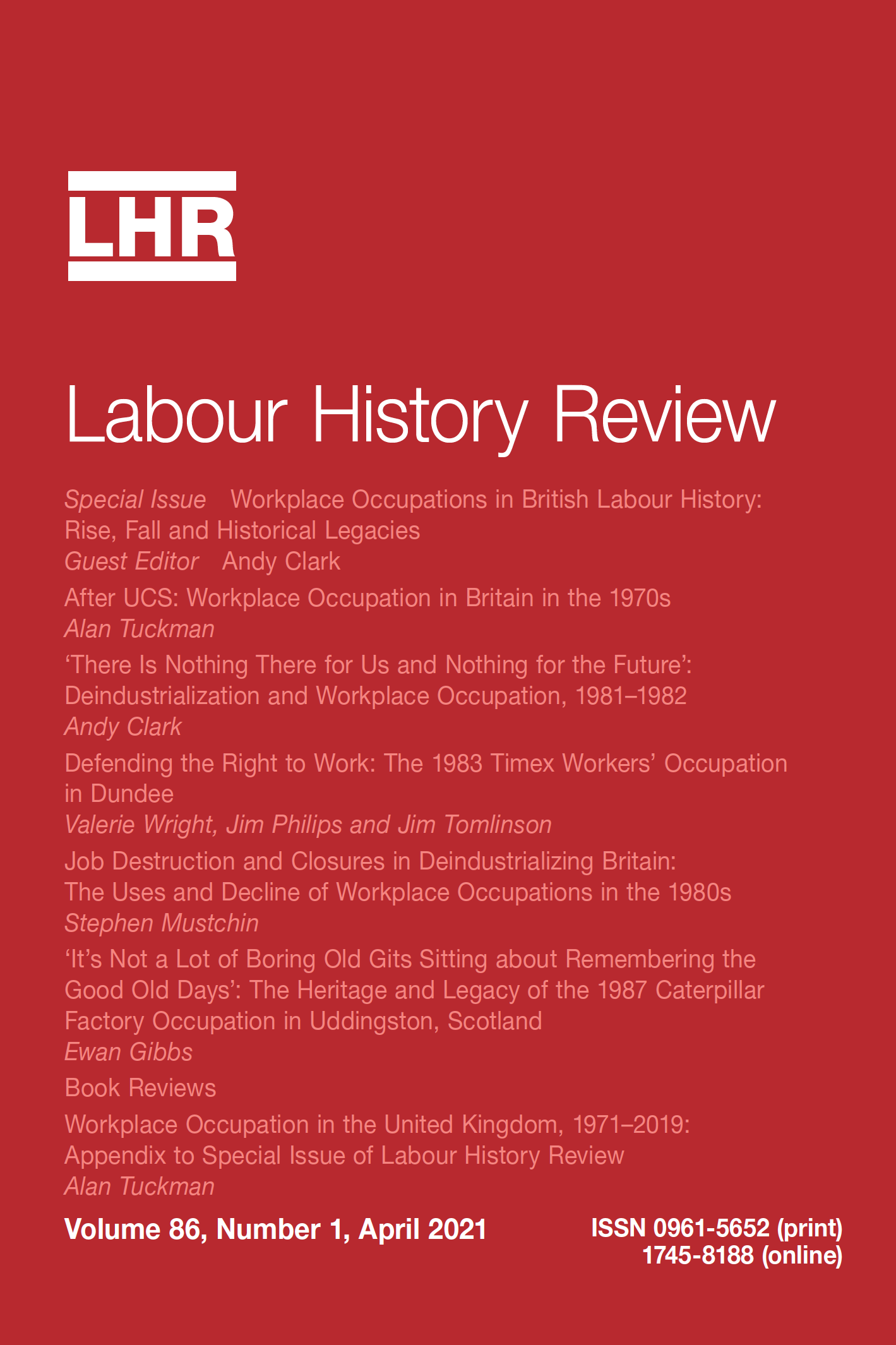 link to Labour History Review article
