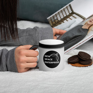 New Space Enterprise Matte Black Magic Mug