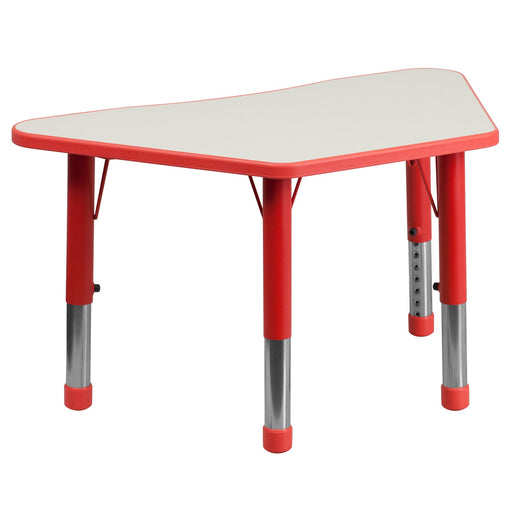 Adjustable Trapezoid Table Red