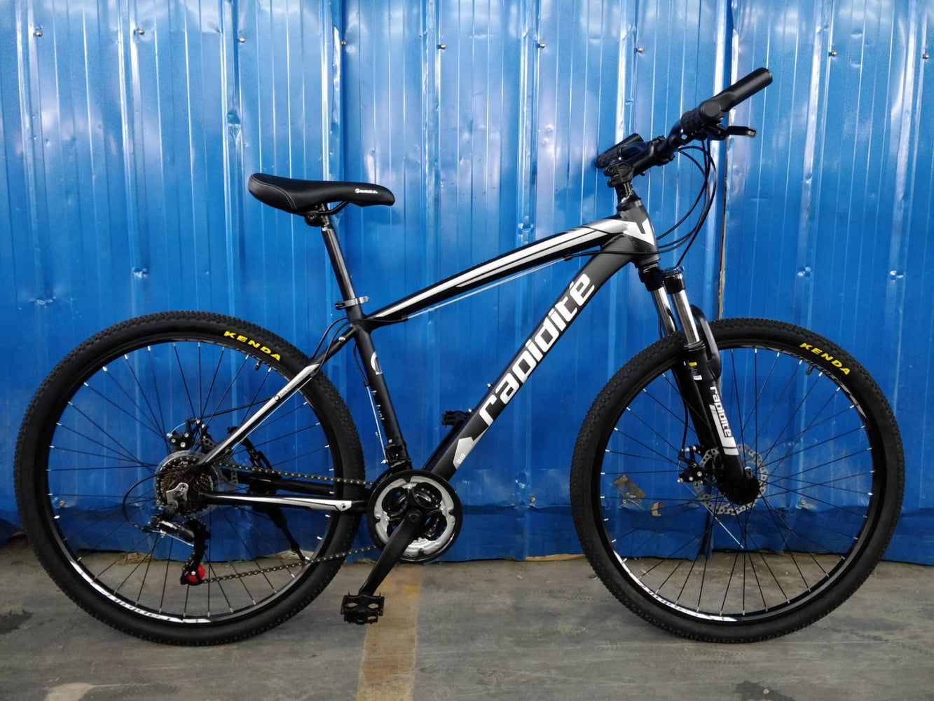 "RAPIDITE Mountain Bike 27.5"" 21sp-Disc Matt Black Silver"