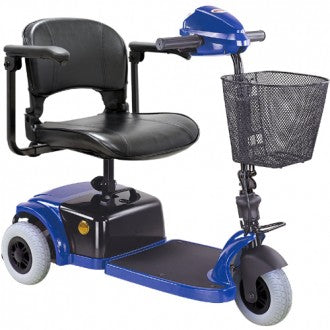 Compact Three Wheel Mobility Scooter Blue HS-125
