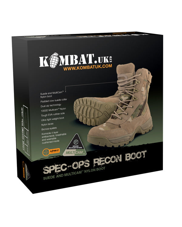 Men's Special Ops Recon Boot - MultiCam - Size 7 to 13 - PREPARE FOR ADVENTURE