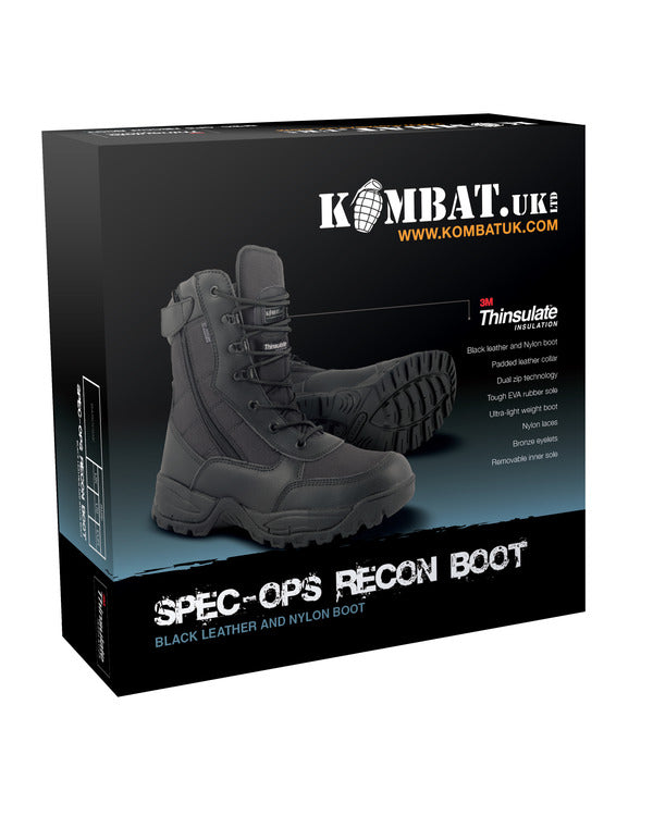 Men's Special Ops Recon Boot - Black - Sizes 7 to 13 - PREPARE FOR ADVENTURE
