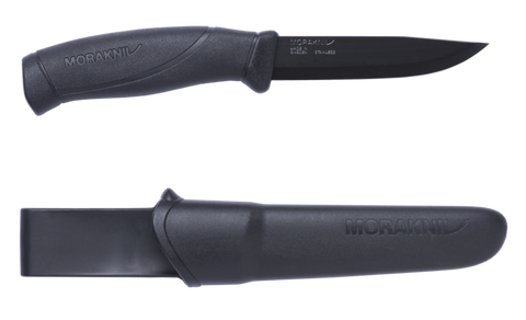 Mora Companion Knife Black - Stainless Steel - PREPARE FOR ADVENTURE