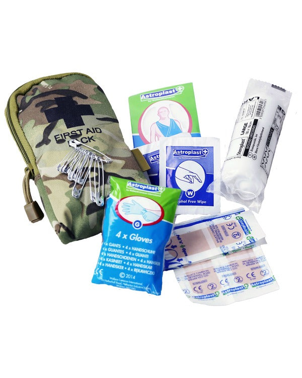 Military First Aid kit - MTP - DPM - OLIVE - COYOTE - BLACK - PREPARE FOR ADVENTURE