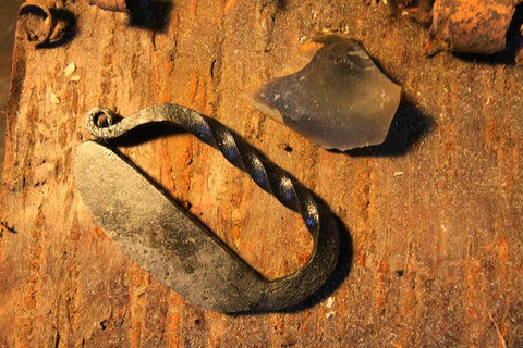 Flint & Steel Striker - Hand Forged in UK - D Shape