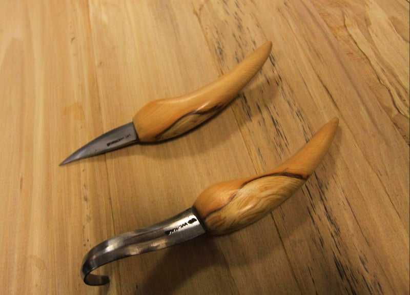 Spoon Carving Set - Hook Knife & Whittler - Hand Forged in UK - PREPARE FOR ADVENTURE