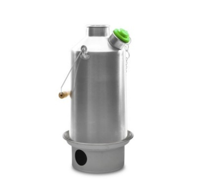 Kelly Kettle Base Camp 1.6ltr - Anodised Aluminium Kettle + Green Whistle - PREPARE FOR ADVENTURE