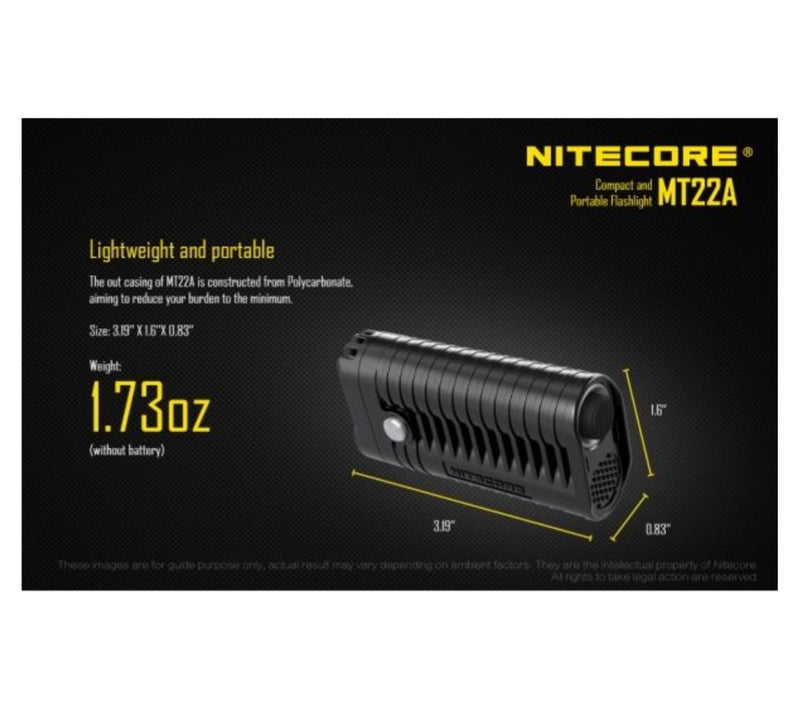 Nitecore MT22A Torch - 260 Lumens - PREPARE FOR ADVENTURE