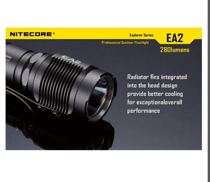 Nitecore EA2 Torch - 320 Lumens - PREPARE FOR ADVENTURE