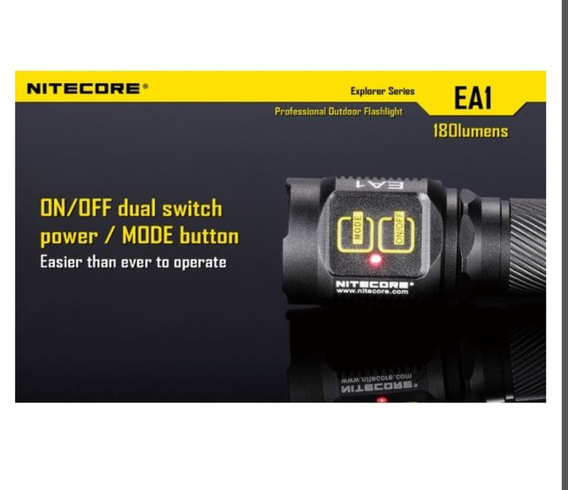 Nitecore EA1 Torch - 180 Lumens - PREPARE FOR ADVENTURE