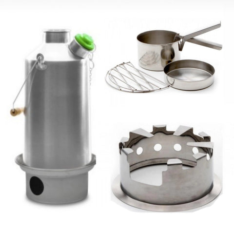 Kelly Kettle Base Camp Cooking Kit - Hobo - Cook Set - Aluminium Kettle