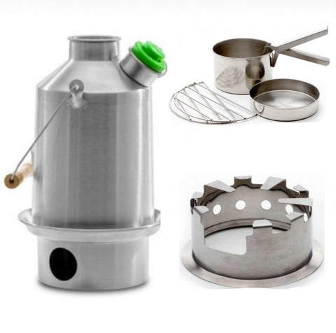 Kelly Kettle Scout Cooking Kit - Hobo - Cook Set - Stainless Steel Kettle