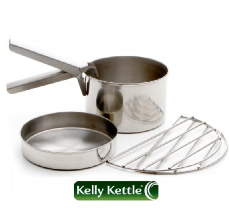 Kelly Kettle Cook Set - Small - Trekker - Stainless Steel - PREPARE FOR ADVENTURE